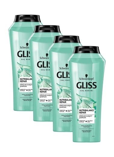 Gliss Gliss Nutribalance Repair Saç Dökülmesine Karşı Şampuan 500 Ml 4'Lü Renksiz
